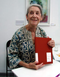 Nadine Gordimer at the launch of Vol IV of the First Chapter Series